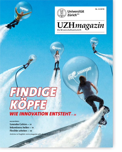 UZH Magazin Cover Findige Köpfe